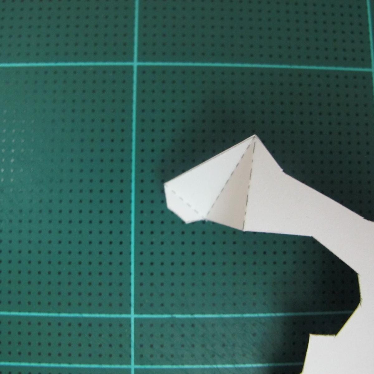 วิธีทำโมเดลกระดาษ ตุ้กตาไลน์ หมีบราวน์ ถือพลั่ว (Line Brown Bear With Shovel Papercraft Model -「シャベル」と「ブラウン」) 004