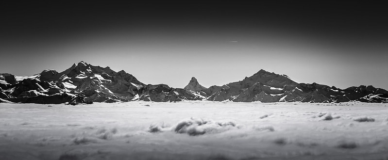 Switzerland: Valais Alps (B&W)