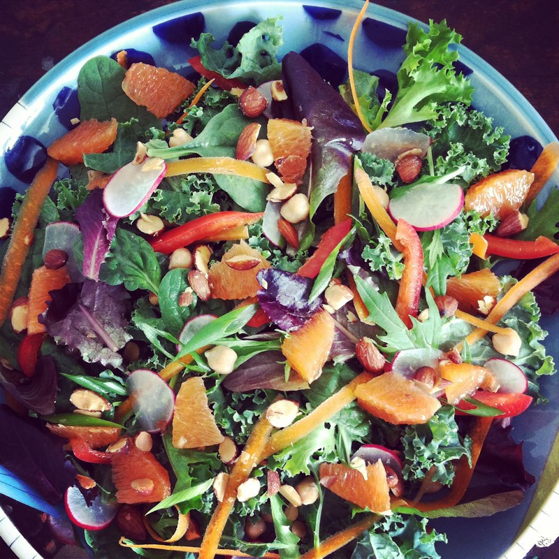 Kale, Cara Cara Orange, and Smoked Almond Salad