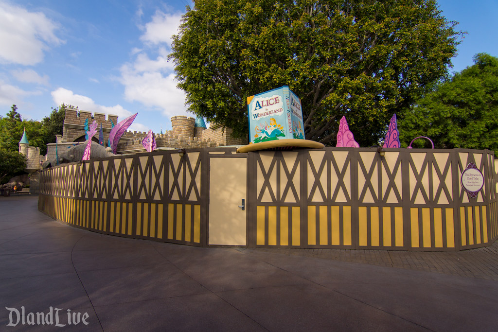 Alice in Wonderland Refurbishment - Disneyland