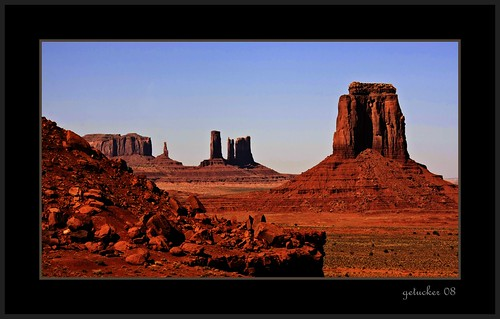 Classic Scene at Monument Valley