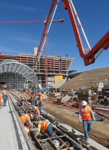 Photo of station track construction at Denver Airport