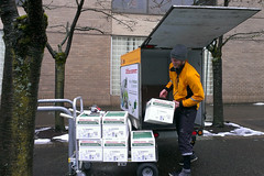 b-line making an office delivery to PSU