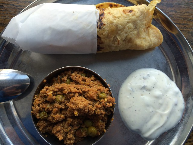 Kati roll & Keema muttar - Kasa Indian Eatery