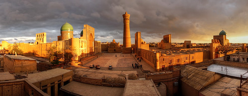 old city sunset panorama golden asia view sony central historic 99 hour alpha uzbekistan bukhara bokhara a99