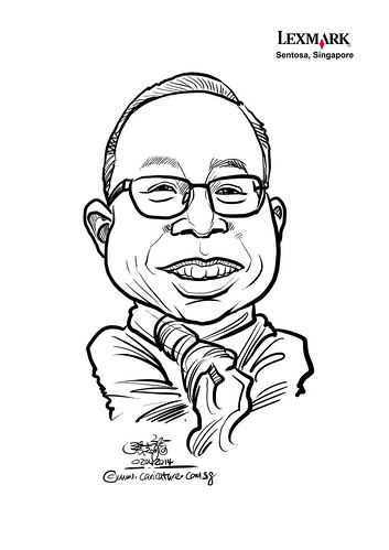 digital caricature for Lexmark - Leong Mun Yew