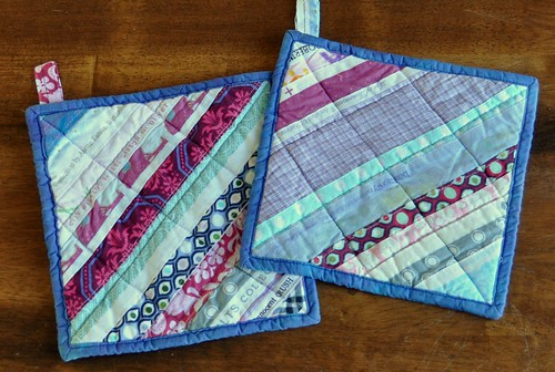 selvage potholders
