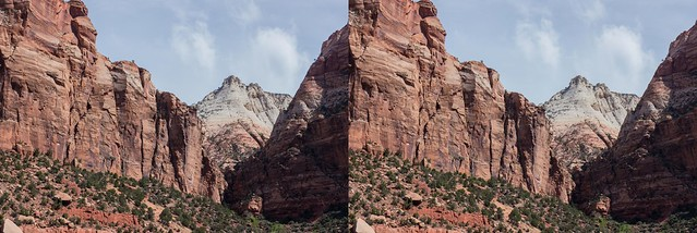 Zion National Park, 3D, Crosseyed view