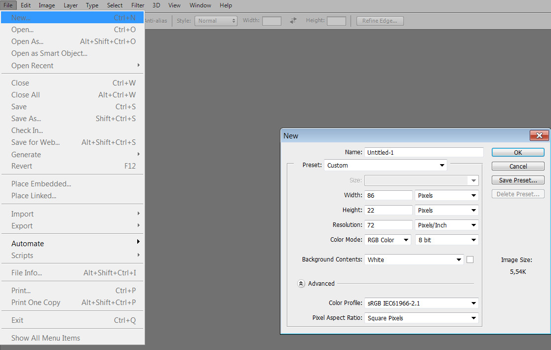 How to change the size and resolution in Photoshop