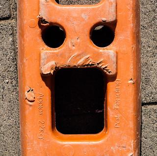 orange barrier support face