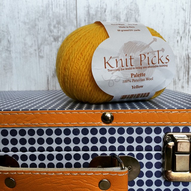 This skein of @KnitPicks Palette is from my friend Marseille. It is like sunshine! Warm woolly sunshine!