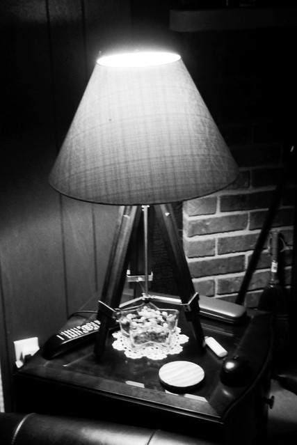 Chairside table and lamp