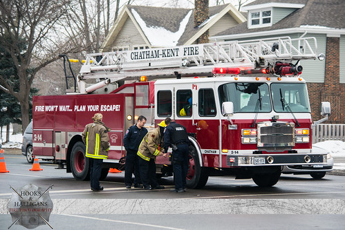 C-K Fire - 2-14, Grand Ave. & St. Clair St. MVC, Chatham, 01/24/2015