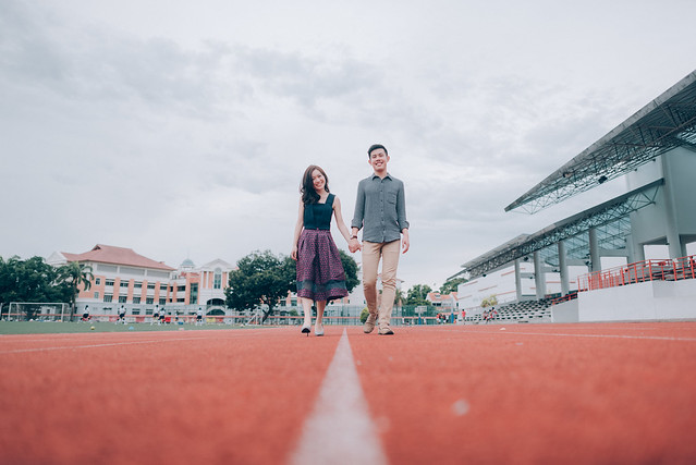 Lovescapade, Multifolds, pre wedding, Kacey Teh Makeup, love, National JC, school, track