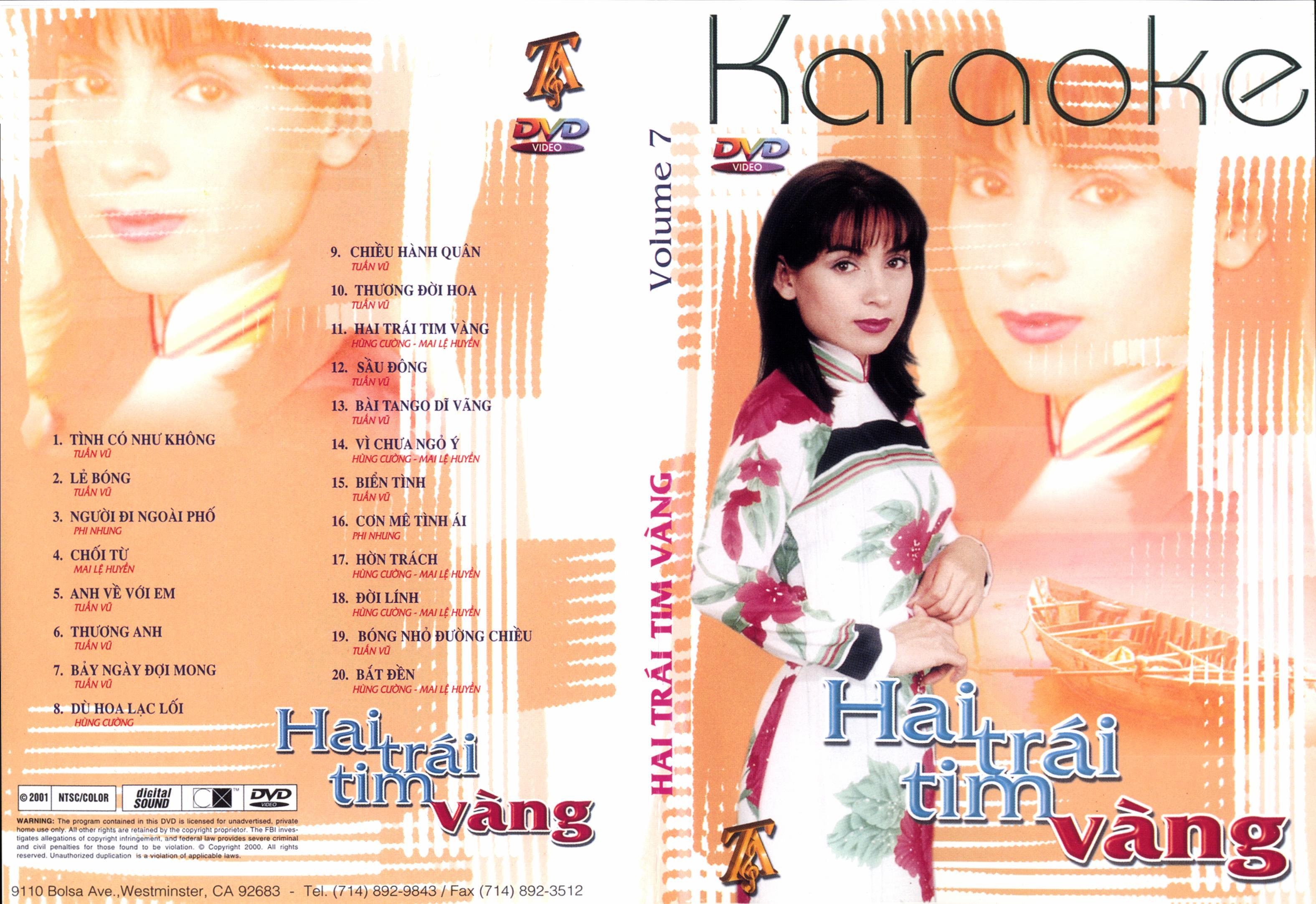 [Karaoke]Thúy Anh Karaoke 7 - Hai Trái Tim Vàng [DVD.ISO]