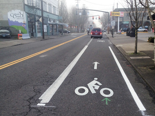 New bikeway on NE 7th in Lloyd district-1