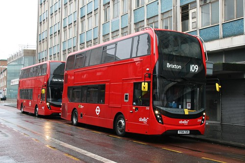 Abellio London 2510 & 2494 on Route 109, Croydon Park Street