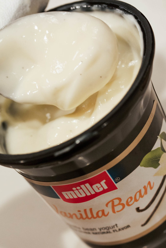 https://cuteandlittle.com | muller ice-cream flavoried yogurt | banana yogurt pudding recipe