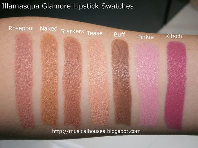 Illamasqua Glamore Lipsticks Swatches 1