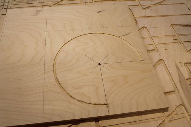 Initial cut of circle jig