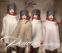 !!! Karla Boutique !!! Paula MULTI Textures Poncho Cape - mesh