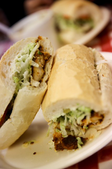 Cajun Blackened Chicken Po Boy, New Orleans