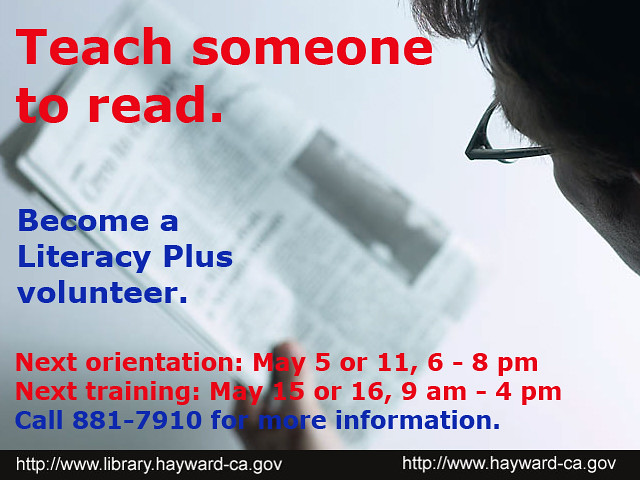 Become a Literacy Plus Volunteer