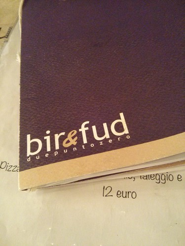 Bir & Fud menu