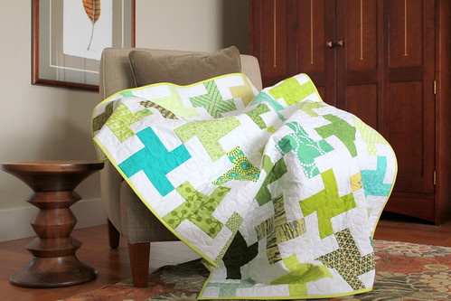 Windmill Quilt on Chair