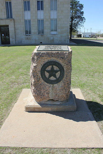 texas historic courthouse benjamin knoxcounty texashistoricalmarker