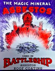 Vintage Asbestos Battleship Roof Coating Ad