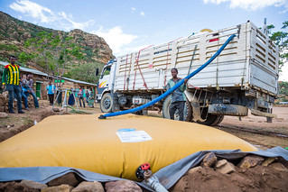 UNICEF-supported water trucking helps revive education