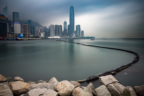 city travel light sea urban hk skyline clouds skyscraper canon hongkong cityscape central lee ifc hongkongisland 6d longtimeexposure bigstopper