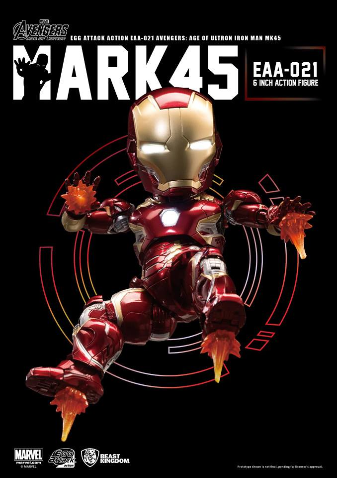 野獸國 Egg Attack Action 系列【鋼鐵人馬克45】復仇者聯盟2:奧創紀元 EAA-021