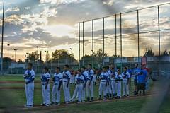 As the sun sets making for a gorgeous backdrop for this first All-stars game. Good luck boys! #bruinsbaseball #littleleague #baseball #allstars