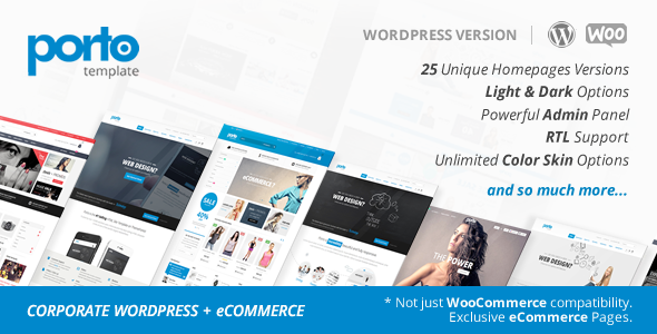 Porto v3.5.5 - Responsive WordPress + eCommerce Theme