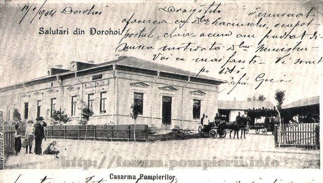 Dorohoi cazarma-pompierilor-1904
