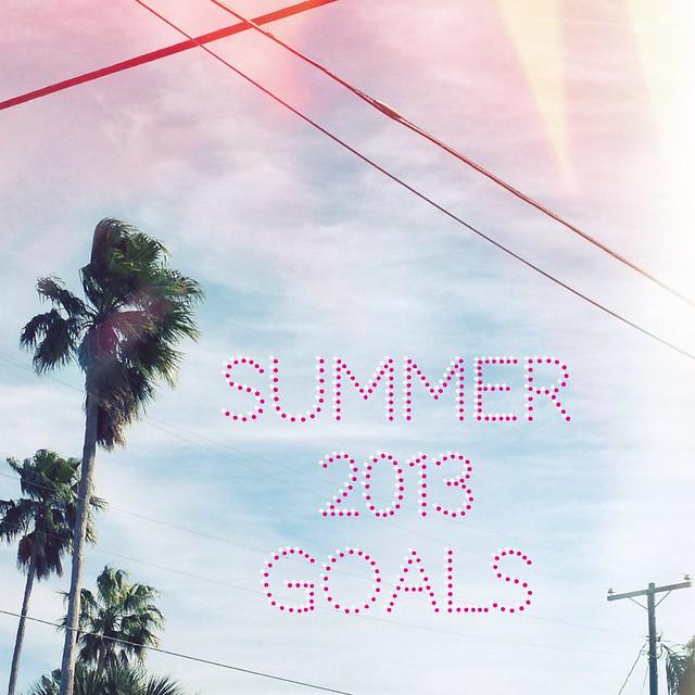 Summer 2013 Goals.