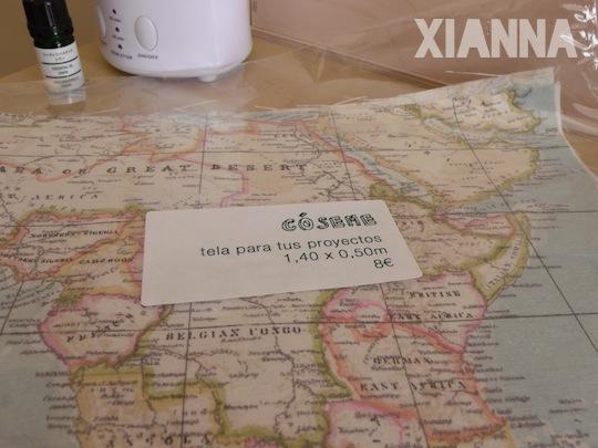 Tela de mapa comprada en Black Oveja