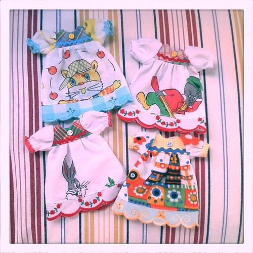 Vintage hanky babydoll dresses...