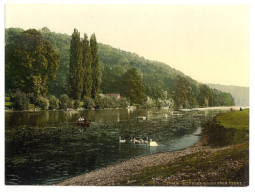 [Cliveden Woods, from ferry, London and suburbs, England]  (LOC)