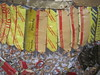 detail of El Anatsui's art at Brooklyn Museum