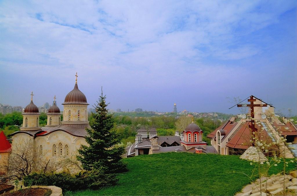 Ukraine, Kyiv. The Orthodox Cave Monastery in Zverinets.