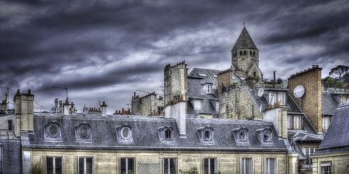 Les toits de Paris dans le 8ème