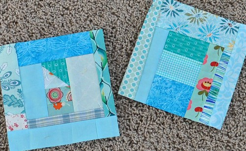 turquoise scrap blocks