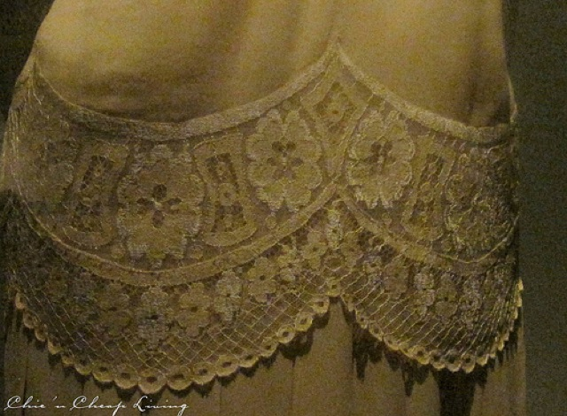 Valentino Jackie O crepe tunic detail worn for wedding at Valentino Retrospective - by Chic n Cheap Living