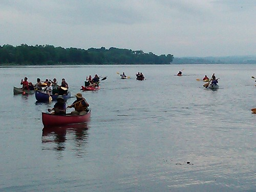 paddlers land Jamie Jacobs July 2 Onondaga Lake by Syracuse Peace Council