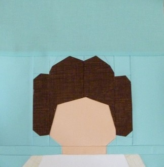 Paper pieced LEGO Princess Leia