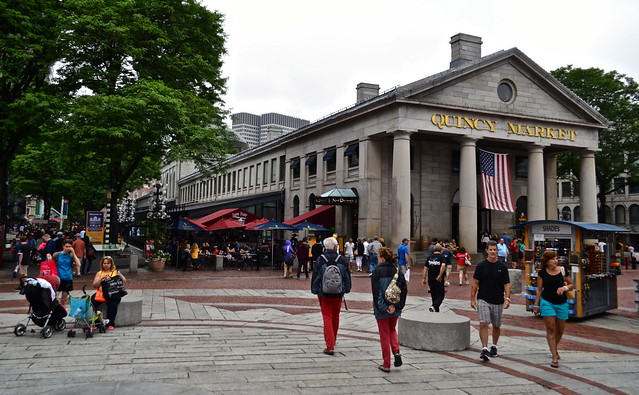 quincy market in boston, Faneuil hall in boston