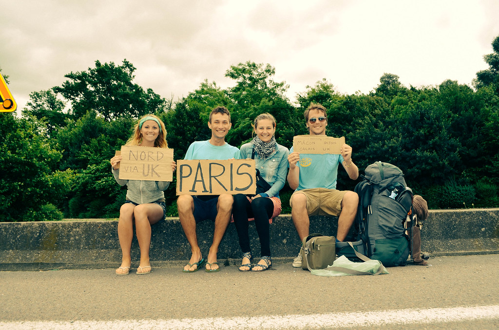 Two Polish hitchers we met near Paris
